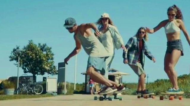 surf skate people