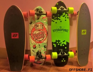 Hydroponic surf skates
